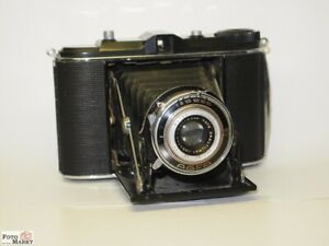 Agfa-Isolette-Black-Folding-Camera-2-3-8x2-3-8in-Lens-Igestar-6-3-3-5-16in