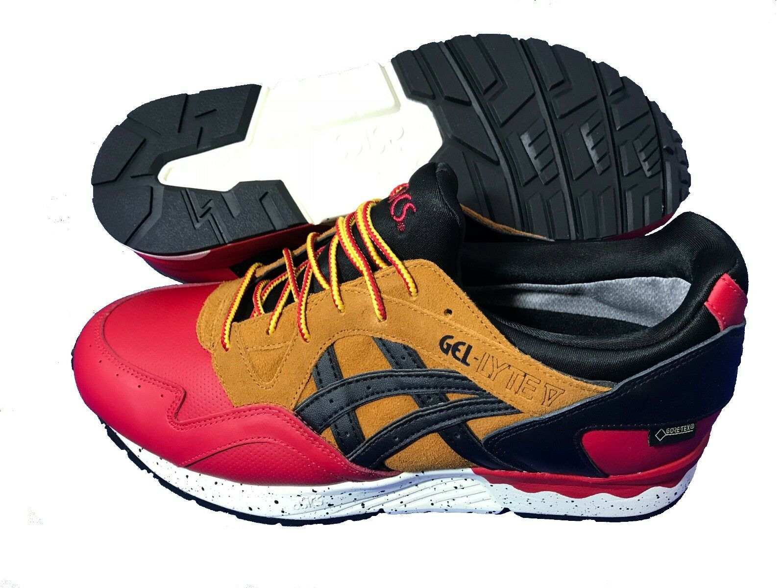 ASICS Gel Lyte V G-TX Gore-Tex Mens Boys Trainers Shoes Red / Black RRP £100