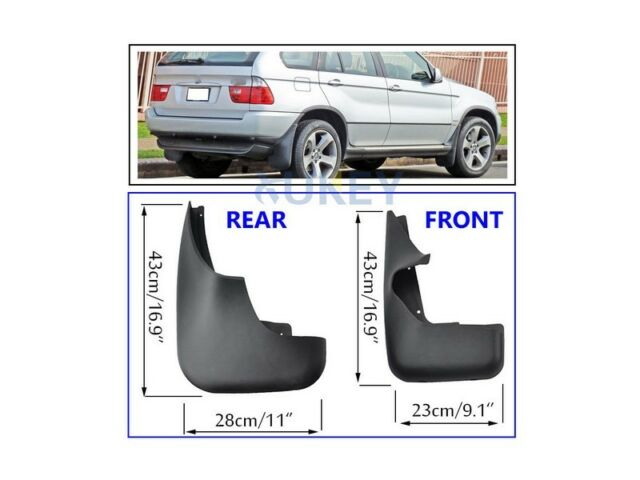 Set Splash Guards Mudguards Molded Mud Flaps For BMW X5 E53 00-06 Front Rear 01