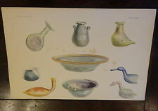 Antique Lithograph Froehner Wilhelm 1903 Ancient Glass Archaeology RARE PRINT