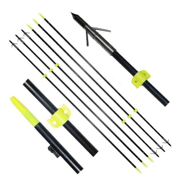 6pcs Jagd Angeln Pfeile Bowfishing Bogenschießen Slingbow Shooting Fish Safe Slide