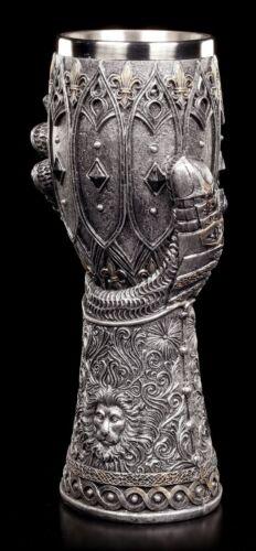 Mittelalter Krug Löwenherz Ritter Handschuh Kelch