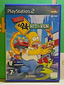 Sony-PlayStation-2-The-Simpsons-Hit-amp-Run-PS2-2003-Video-Game-Pal-Action-Adv