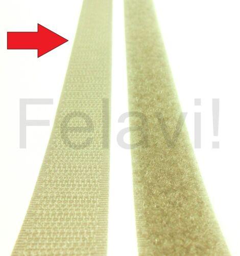 20 mm nuevo! € 1,84//m - € 0,85//m gancho de cinta adhesiva cinta de velcro gris banda