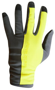 Large Pearl Izumi Escape Thermal Full Finger Cycling Gloves Screaming Yellow