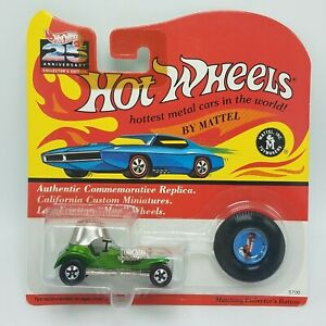 Hot-Wheels-25th-Anniversary-Redlines-Red-Baron-Color-Olive-Green-NEW