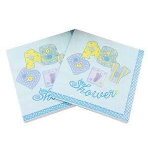 20x-bag-Baby-Shower-Paper-Napkins-Serviettes-Blue-Unisex-Boy-Girl-Party-decor-Z