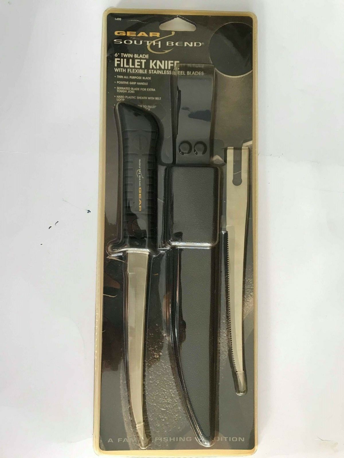 Gear  South Bend 6  Twin Blade Fillet Knife with flexible stainless Steel b 1490  come to choose your own sports style