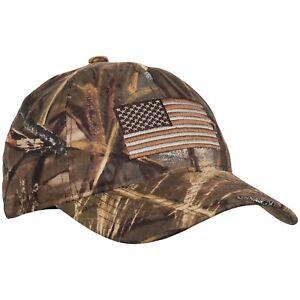 2ccd03c7a1ef7 Outdoor Cap Realtree Max-4 Camo USA Flag Baseball Cap for Men