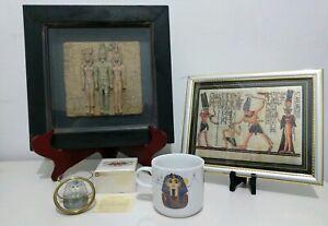 Rare-Ancient-Egypt-Egyptian-Traid-of-King-Menacure-Tutankhamen-Hieroglyphics-Set