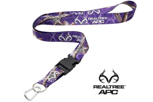 Realtree Purple Camo Neck Strap Lanyard With Quick Release /& Mini Carabiner