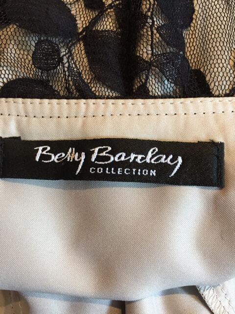 Betty Barclay Collection 12 Senza Maniche Pizzo nero su su su Nude Fit N Flare Abito Fab  3f5486