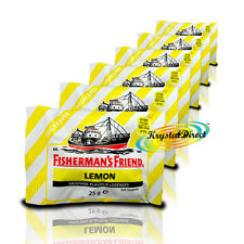 6x Fisherman's Friend Sugar Free Lemon Menthol Lozenges Sweeteners 25g