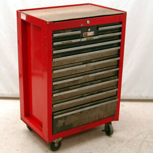 Craftsman 12 Drawer Red Roll Away Tool Chest Tool Box Ebay