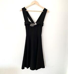 BNWT-Sourpuss-Black-Veronica-Dress-Size-Medium-Sleeveless-Crossover-Skater
