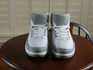 Nike-Air-Jordan-II-Retro-Silver-Anniversary-White-amp-Grey-Men-039-s-Sneakers-SIZE-9-5