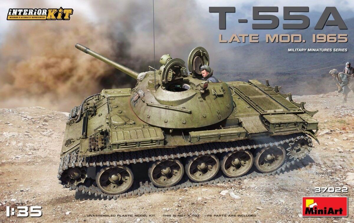 MINIART 37022 1 35 SCALE PLASTIC MODEL KIT T-55A LATE MOD. 1965 INTERIOR KIT