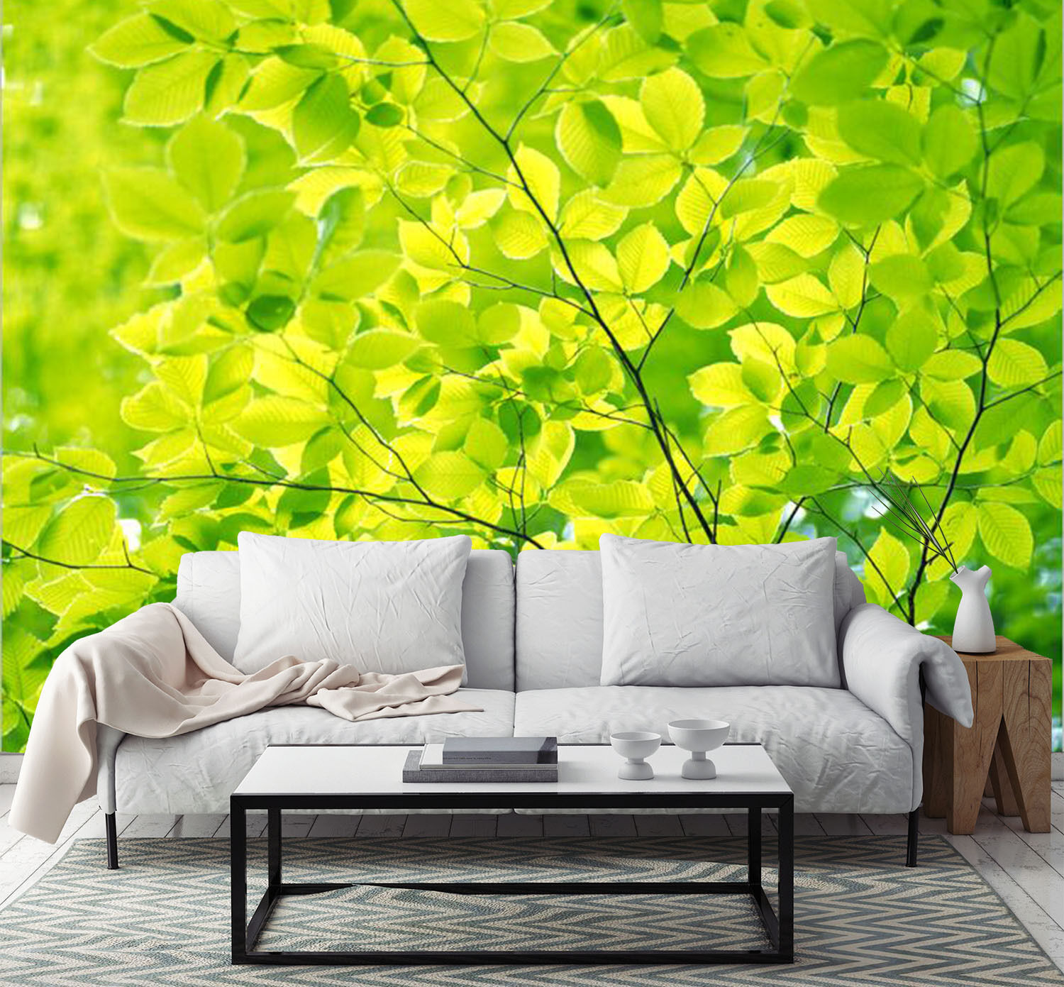 3D Lush Tree Leaves 2767 Paper Wall Print Wall Decal Wall Deco Indoor Murals