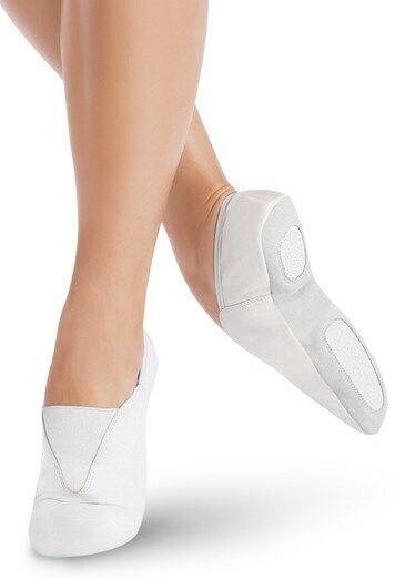 Capezio Agility Unisex White Leather Split Sole Gymnastic Shoe US5 UK Size 2