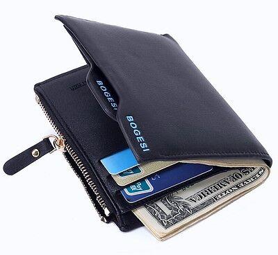 Bogesi PU Leather Bifold Wallet Credit Card Holder for Men's (Blue)