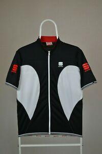 Men-039-s-Sportful-Jersey-Sport-Wear-Short-Sleeve-White-Black-Cycling-Size-L