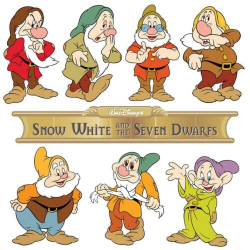 **********SNOW WHITE AND THE SEVEN DWARFS *******FABRIC//T-SHIRT IRON ON TRANSFER
