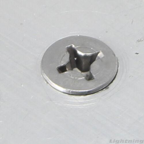 "#10 x 1/"" Self Drilling Screws Flat Head Sheet Metal Stainless Steel Qty 500"
