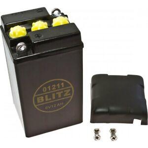 Motorradbatterie-01211-schwarz-6V-Classic-battery-6v12ah-black-plastic-BMW-R-R50