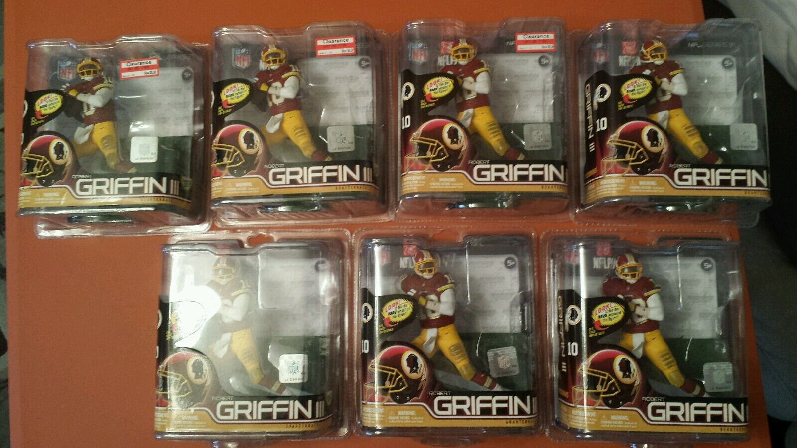 7 NFL McFarlane Series 31 DEBUT Robert Griffin III rougeskins grand pour les Douanes
