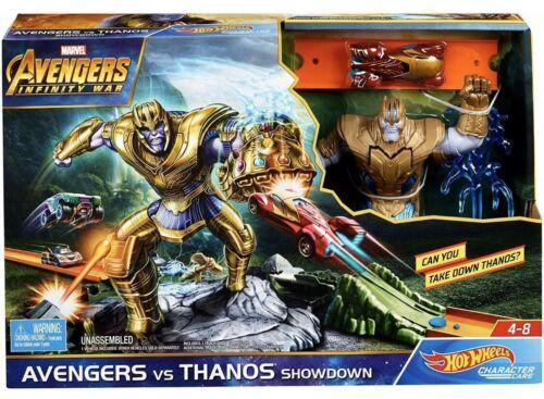 Play Set Thanos Showdown Mattel-Hot Wheels-Marvel Avengers Vs nouveau Toys