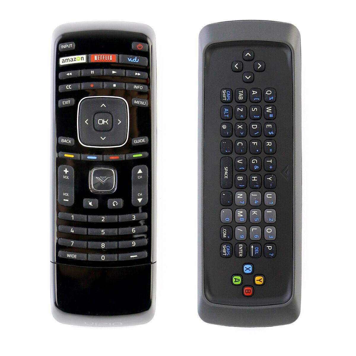 Vizio Genuine XRT300 Qwerty Keyboard Remote Control with Vudu for VIZIO Smart TV