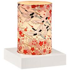 Japan Windlicht TSURU Weiß japanische Kraniche Teelichthalter H 11 cm Deko