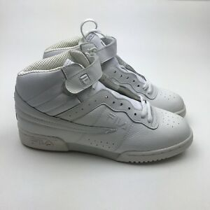 4189f49b8cf0 VINTAGE MEN S FILA F13 F-13 ALL WHITE MID HIGH TOP BASKETBALL SHOE S ...