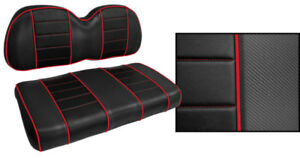 Golf Cart Custom Front Seat Covers BLACK with RED ACCENTS Club Car Yamaha Golf Cart Custom Seat Covers on seat protectors for car seats, club car custom seats, margaritaville golf cart seats, ez go golf cart seats, misty golf seats, slipcovers for golf cart seats, tigre golf cart seats, discount golf cart rear seats, yamaha rhino custom seats, golf cart bucket seats, yamaha rhino aftermarket seats, ezgo golf cart replacement seats, custom alligator seats, go kart bucket seats, yamaha g1 bucket seats, custom ezgo seats, collegiate golf cart seats, used golf cart rear seats, luxury golf cart seats, florida gators golf cart seats,