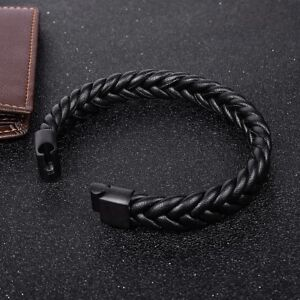 Trendy-Braided-Leather-Bracelet-Cuff-Wrap-Jewelry-Gifts-Accessories-For-Men
