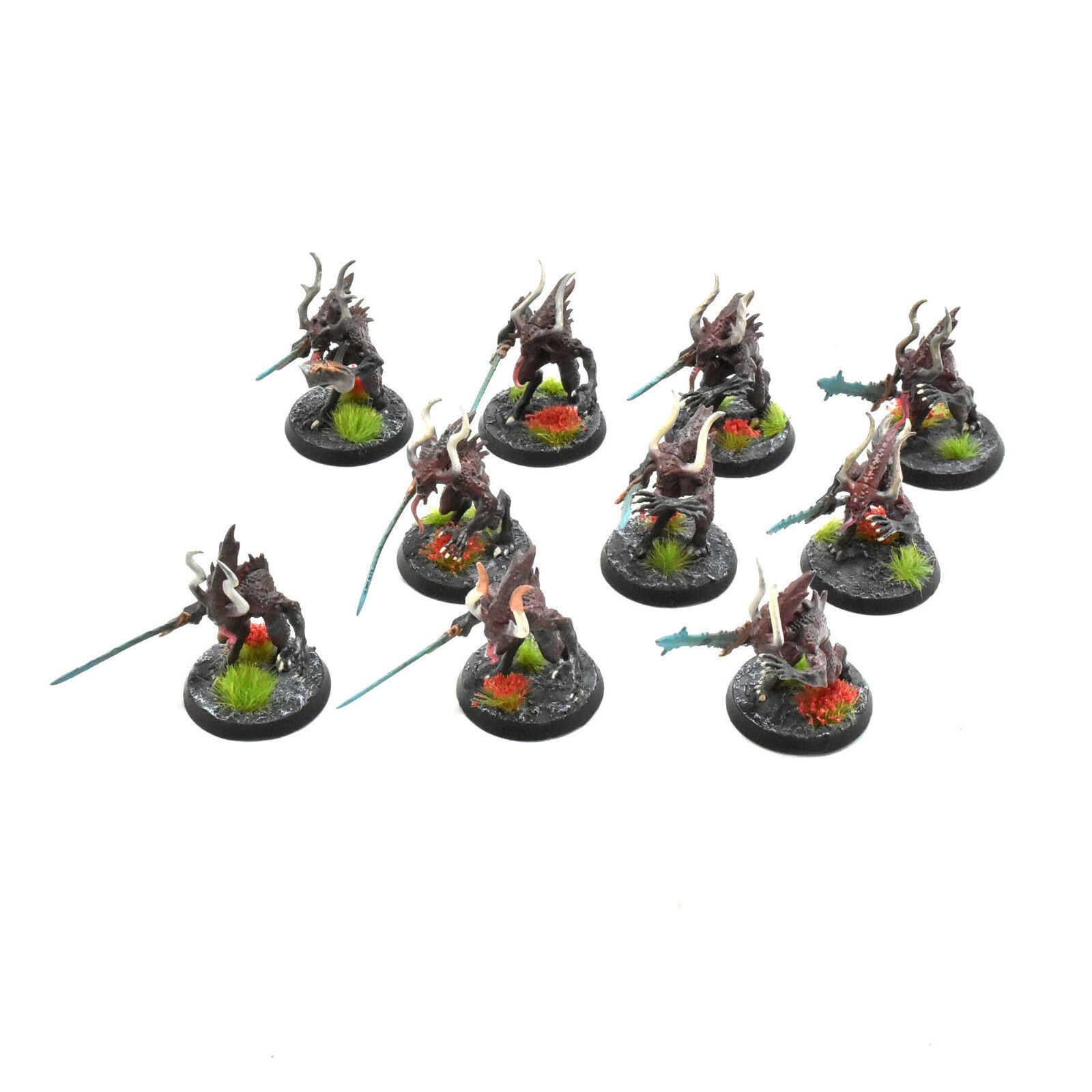 Dämonen chaos 10 bloodletters   warhammer 40k sigmar khorne 4 gut gemalt