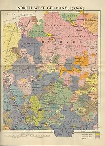 Map Of North West Germany.Details About Map Battle Plan North West Germany 1756 63 Munster Hanover Hesse Cassel
