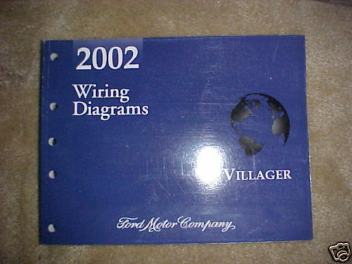 2002 Ford Villager Factory Original Wiring Diagrams