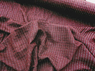 Fabric Vintage 60s 70s Douppioni Cotton Fabric Brown Gold Lame Pinstripe Home Decor 2yd Crafts Marketplatforms Com