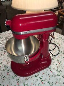 Red KitchenAid Professional 5 Plus Mixer used Twice W/Bowl ... on emerson mixer red, 5 qt kitchenaid mixer red, kitchen aid range red, kitchen aid food processor red, kitchen aid coffee maker red,