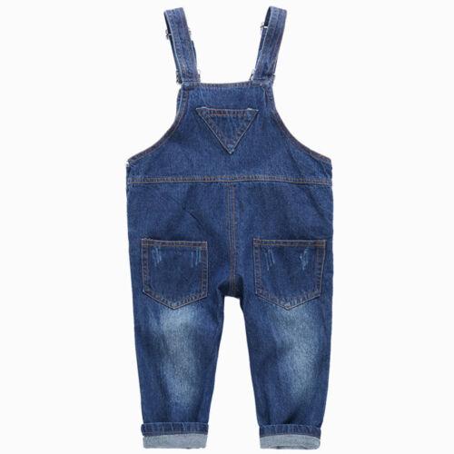 Kids Boys Child Denim Jeans Overalls Bib Denim Pants Jumpsuit Bodysuit Clothes
