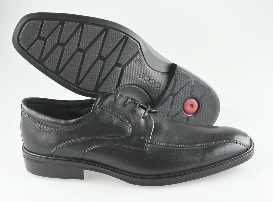 Men's ECCO 'Illinois' Black Leather Bicycle Toe Oxfords Size US 12 EUR 46