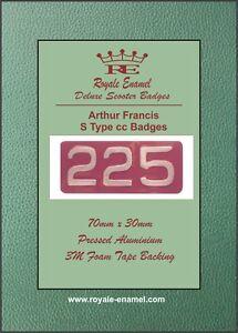 """Pressed Aluminium AF """"S Type"""" 225cc Replica Badge Arthur Francis Lambretta"""