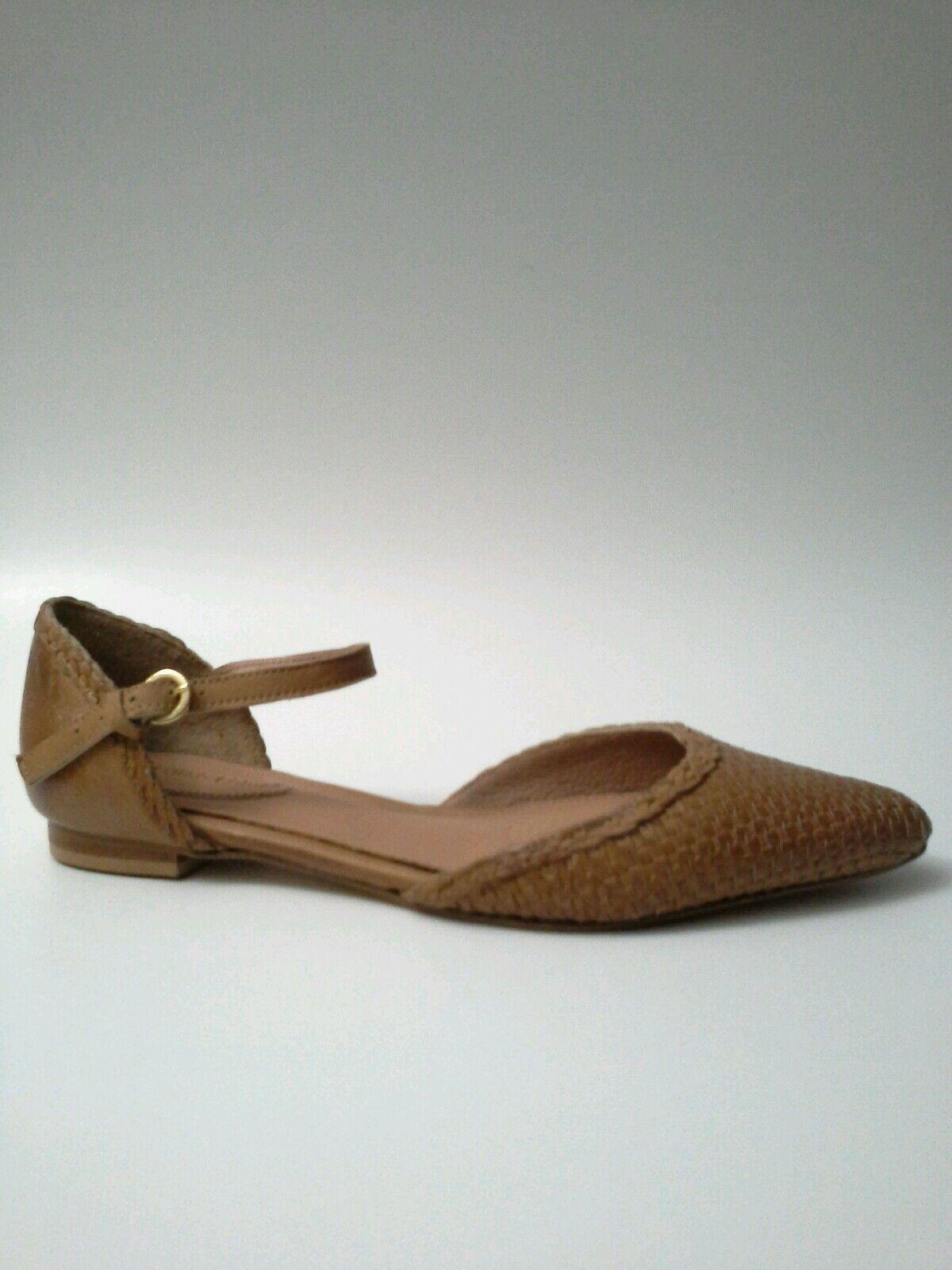 tutto in alta qualità e prezzo basso CORSO COMO Merla Flats Woven Leather Detailing Tan Ankle Strap Strap Strap Dimensione 7.5   38.5  salutare