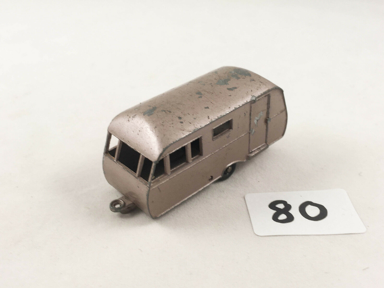 Rare MATCHBOX LESNEY Nº 23 C bleuBIRD DAUPHINE Caravan Diecast métallique mauve BPW