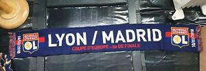 Maillot-jersey-echarpe-champions-league-ol-Lyon-real-madrid-2009-2010-09-10-rare