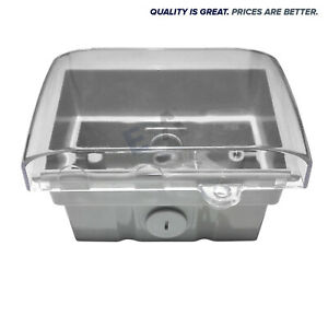 Weatherproof-Box-Enclosure-Mounting-with-Clear-Lid-For-Power-Points