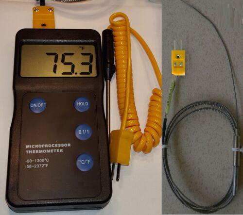 Digital pyrometer F,C Thermometer Thermocouple heat treatment melt pot lead
