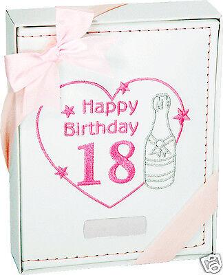 HAPPY 18th BIRTHDAY WHITE & PINK LADY PHOTO ALBUM ( FREE ENGRAVING ) Gift