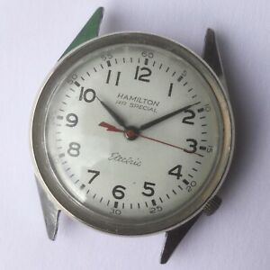 VTG-1960s-HAMILTON-RAILROAD-SPECIAL-Stainless-Steel-ELECTRIC-WATCH-4-REPAIR